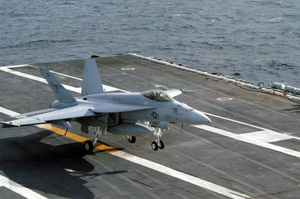 F/a-18e Makes An Arrested Landing Aboard Uss Carl Vinson Image