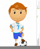 Boy Playing Football Clipart Image