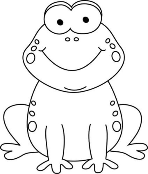 Frog Clipart Black And White