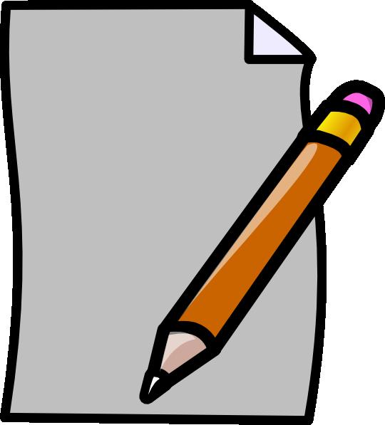 paper clip art at clker com vector clip art online royalty free rh clker com pen and paper clipart free pen and paper clipart black and white