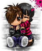 Kids Hug Cartoon Image