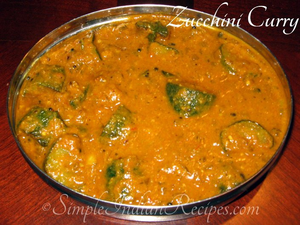 Zucchini Recipe Indian Image