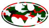 Batman Logo Christmas Camo Cut Image