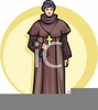 Franciscan Monk Clipart Image