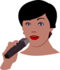 Female Singer Clip Art