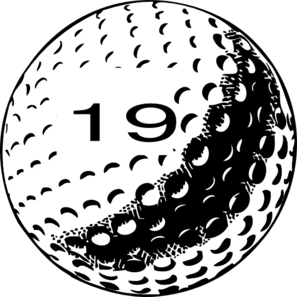 Golf Ball Number 19 Clip Art