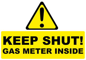 Caution Keep Shut Gas Meter Image