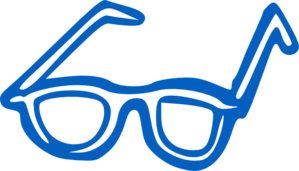 Blue Eye Glasses Clip Art
