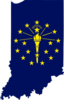 Px Flag Map Of Indiana Image