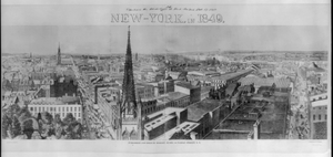 New-york, In 1849  / Drawn By E. Purcell ; Engraved By S. Weekes. Image