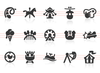 0133 Amusement Park Icons Image