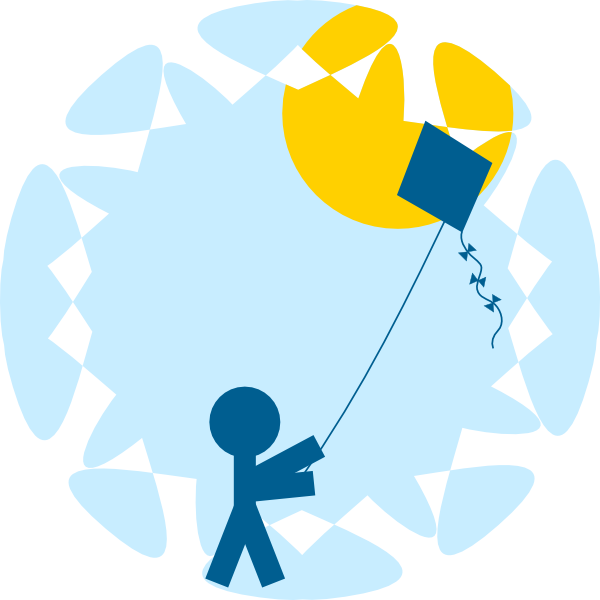 clipart kite flying - photo #1
