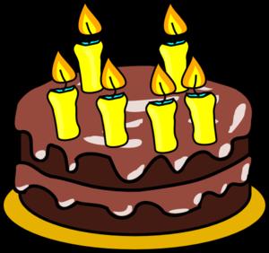 6th Birthday Cake Clip Art