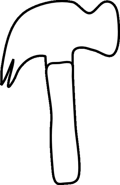 Plain White Hammer Clip Art At Clker Com Vector Clip Art