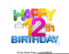 Free Happy Birthday Sign Clipart Image