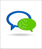 D Speech Bubbles Vector Image