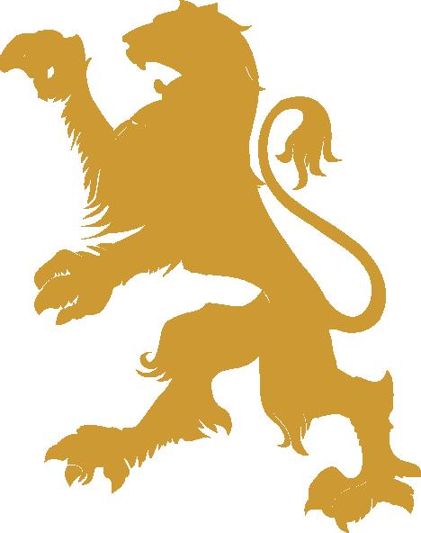 Gold Lion Clip Art at Clker.com - vector clip art online ...