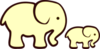 Yellow Elephant Mom Baby Image