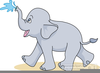 Cute Elephant Clipart Free Image