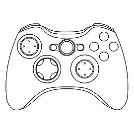 Clipart 285108 together with  likewise Ps4 Controller Coloring Pages Sketch Templates as well Ps3 Gamepad Test Zar 4302 in addition Nyko Intercooler. on xbox 360 controller d pad