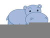 Cartoon Hippopotamus Clipart Image