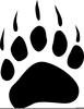 Free Clipart Lion Paw Print Image