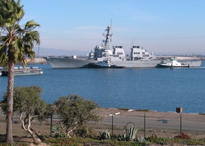 The Arleigh Burke-class Guided Missile Destroyer Uss Fitzgerald (ddg 62) Arrives At Naval Weapons Station (nws) Seal Beach, To Onload Ammunitions. Image