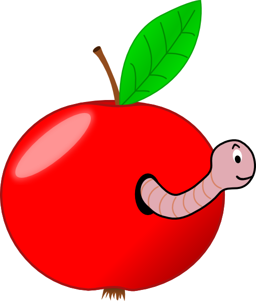 Red Apple With A Worm Clip Art at Clker.com - vector clip art ...