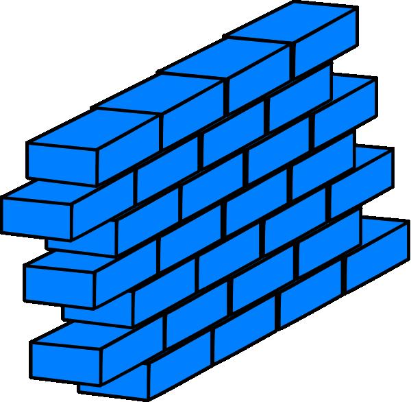 Brick Wall Clip Art: Blue Ibm Wall Clip Art At Clker.com