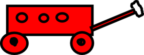 Big Red Sport Wagon Clip Art