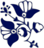 Blue Flower Pattern Clip Art