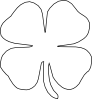 Four Leaf Clover Vector Clip Art