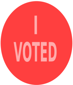 Red Vote Sign Clip Art