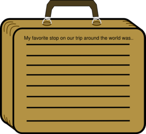 Lined Suitcase Clip Art