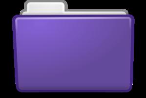 Violet Folder Clip Art at Clker.com - vector clip art online ...