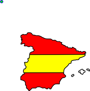 Flag Within The Boundaries Of Spain Clip Art