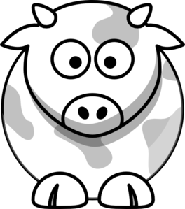 Cow Outline Clip Art