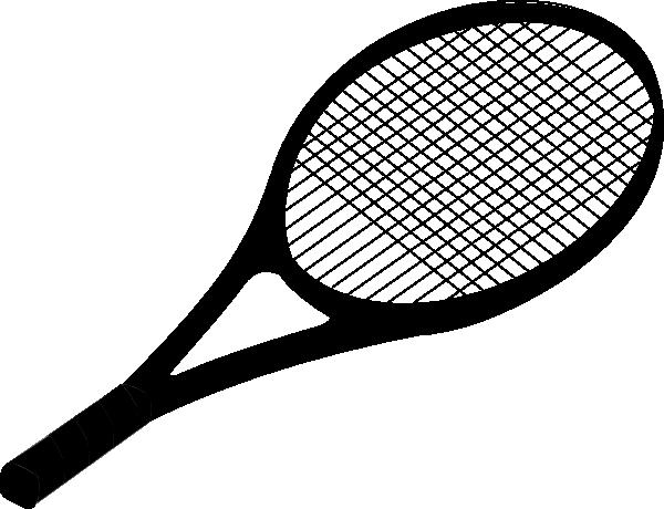 Black Tennis Racket Clip Art At Clker Com Vector Clip