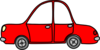 Red Toy Car Clip Art