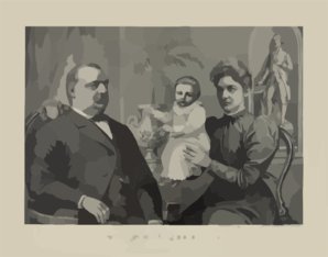 President Cleveland And Family Clip Art