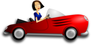 Brunette Female Driver Clip Art