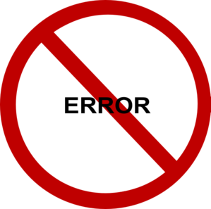 No Time Wasting Error Clip Art