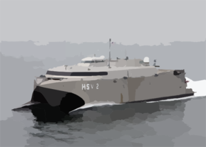 High Speed Vessel Two (hsv-2) Swift Glides Through The Waters Of The Atlantic Ocean. Clip Art