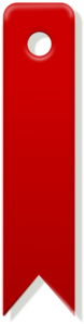Red Bookmark Clip Art