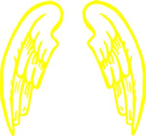 Gold.angel.wings.design Clip Art