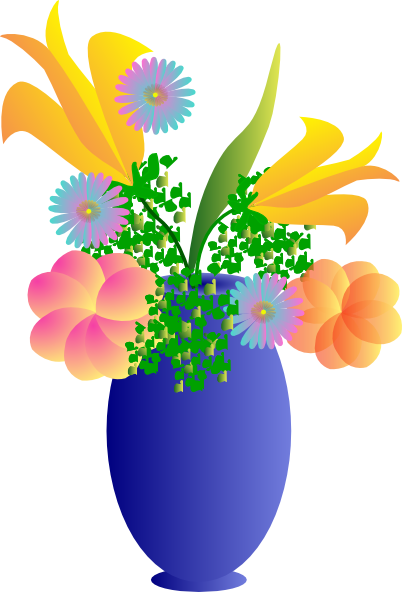 A Vase Of Flowers Clip Art At Clker Vector Clip Art Online