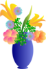 A Vase Of Flowers Clip Art