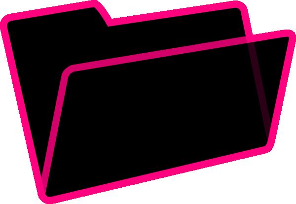 Black And Pink Folder Clip Art At Clker Com Vector Clip