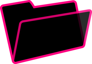 Black And Pink Folder Clip Art