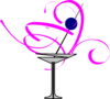 Martini Glass Blueberry Clip Art